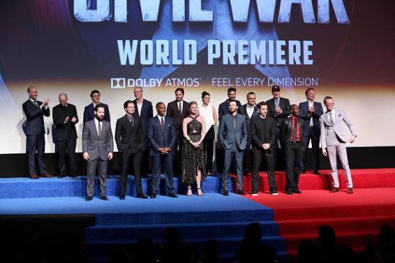Cast e Crew Civil War World Première