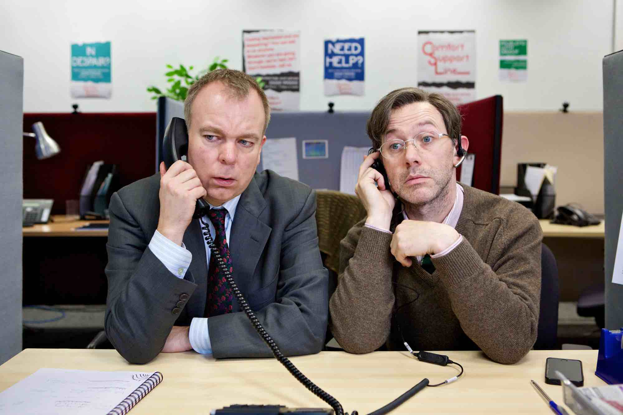 Programme Name: Inside No.9 series 2 - TX: n/a - Episode: Cold Comfort (No. n/a) - Picture Shows: Andy (STEVE PEMBERTON), George (REECE SHEARSMITH) - (C) BBC - Photographer: Sophie Mutevelian