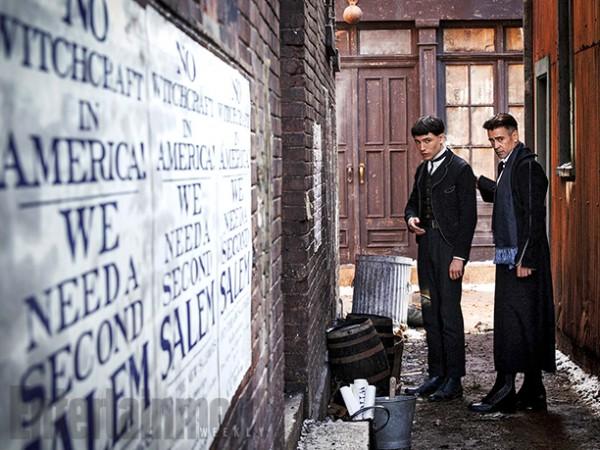 Colin Farrell con Ezra Miller